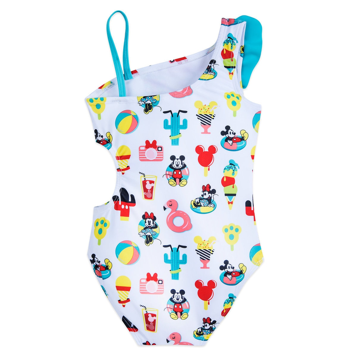 68d2de145c1c2 Product Image of Mickey and Minnie Mouse Summer Fun Swimsuit for Girls # 3