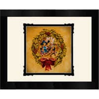 Image of Mickey and Minnie Mouse ''It's Better to Give Than to Receive'' Framed Deluxe Print by Noah # 1