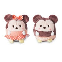 Image of Mickey and Minnie Mouse Ufufy Plush Set - Mini 2 1/2'' # 1