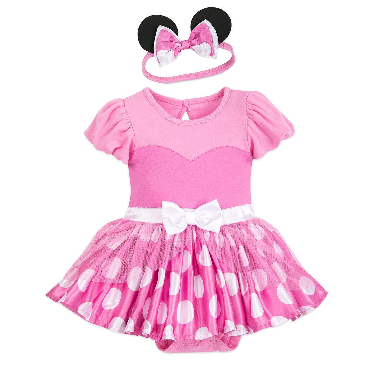 b220139980539 Product Image of Minnie Mouse Costume Bodysuit for Baby - Pink -  Personalized # 1
