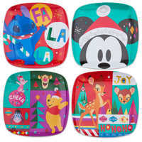 Image of Mickey Mouse and Friends Holiday Cheer Plate Set - 4-Pc. # 1
