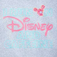 Image of Mickey Mouse ''Disney and Caffeine Pullover'' Sweatshirt for Women # 4