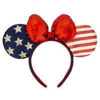 Image of Minnie Mouse Americana Ear Headband # 1