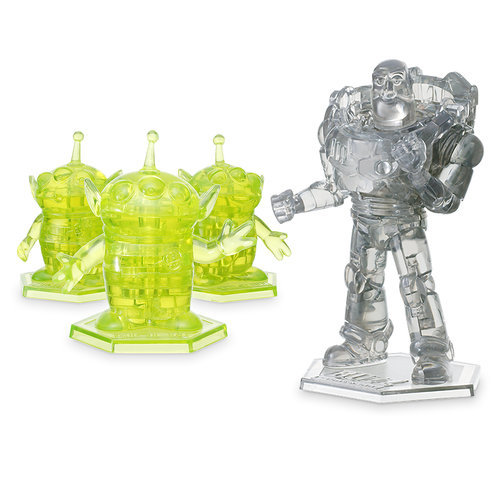 Buzz Lightyear And Aliens 3d Crystal Puzzle Set By