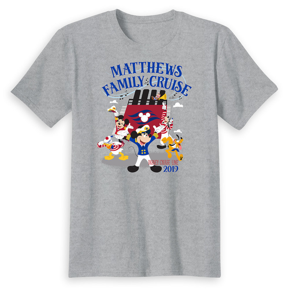 Adults' Captain Mickey Mouse and Crew Disney Cruise Line Family Cruise 2019 T-Shirt - Customized