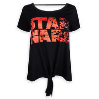 Image of Star Wars: The Last Jedi Logo Tie-Front Top for Women # 1