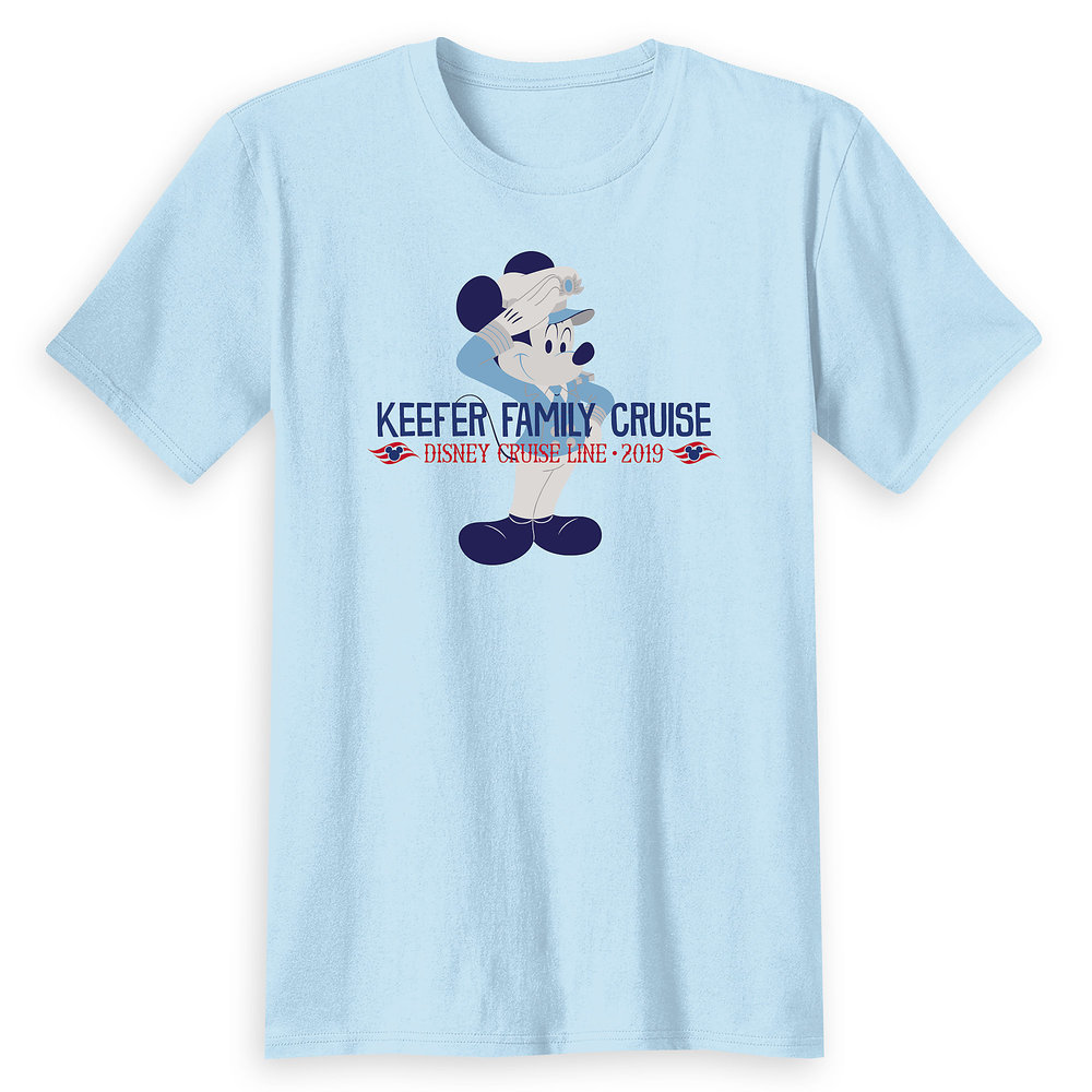 Adults' Captain Mickey Mouse Disney Cruise Line Family Cruise 2019 T-Shirt - Customized