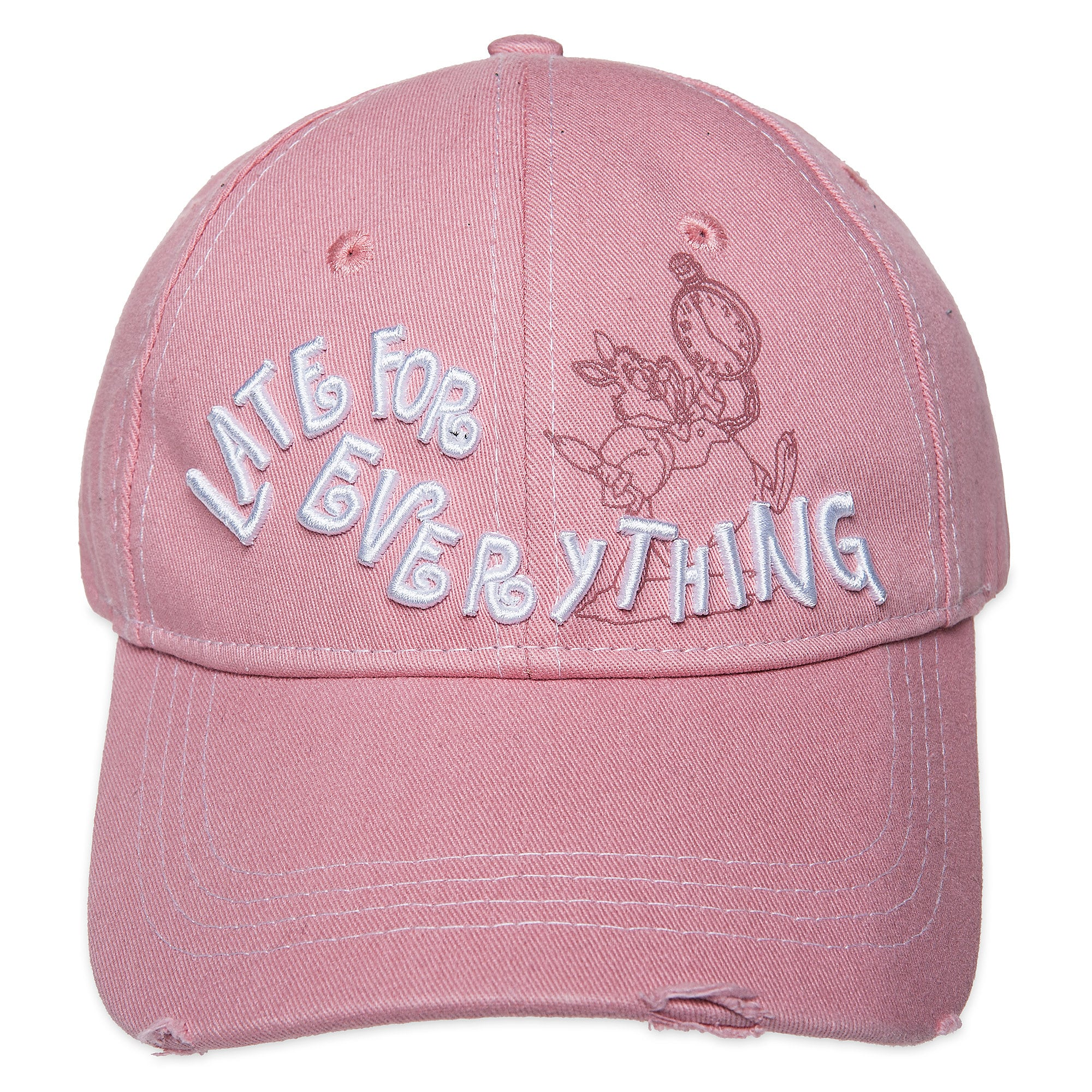 64446fbb2cfc1 White Rabbit   Late For Everything   Baseball Cap for Adults - Alice in  Wonderland