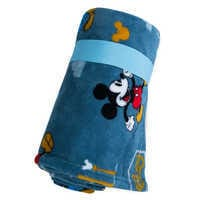 Image of Mickey Mouse, Donald Duck, and Pluto Fleece Throw - Personalizable # 2