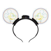 Mickey Mouse '80s Flashback Light-Up Ears Headband