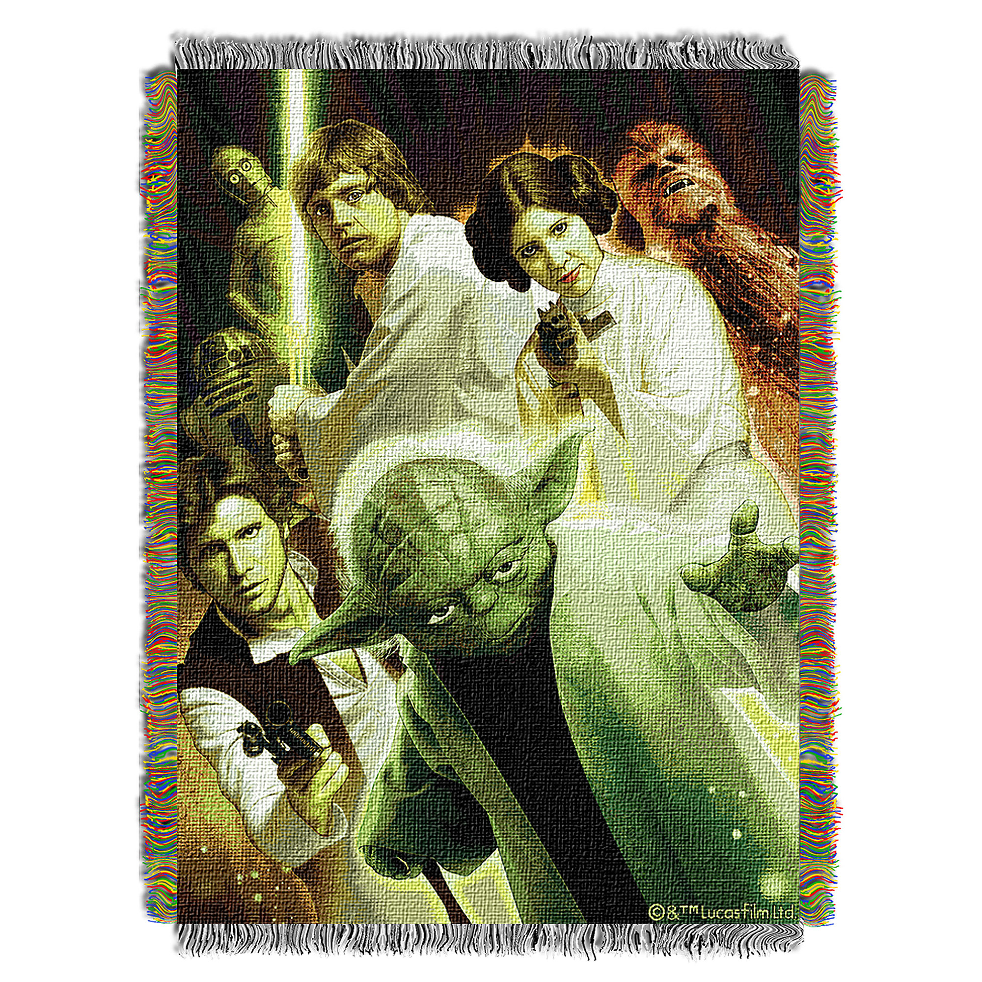 Yoda and Friends Woven Tapestry Throw - Star Wars