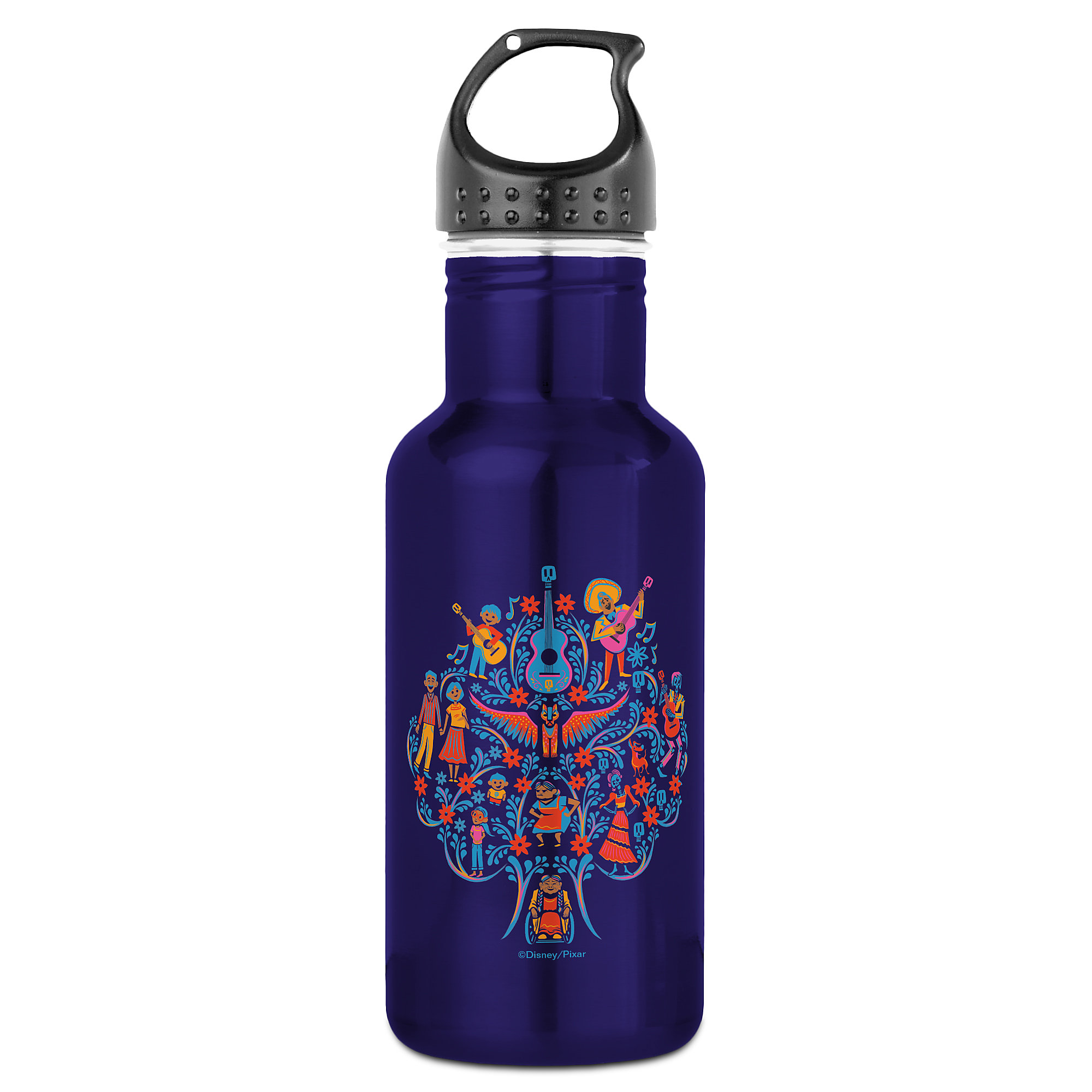 Coco Colorful Character Tree Graphic Water Bottle - Customizable