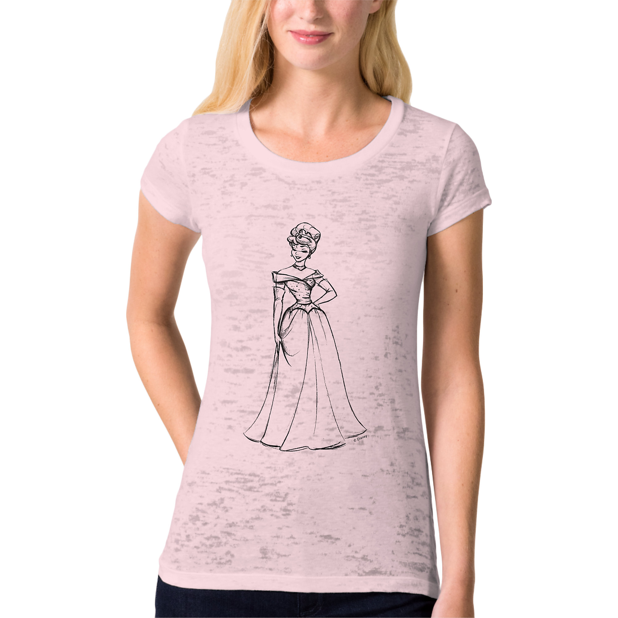 Aurora Burnout Tee for Women - Art of Princess Designer Collection