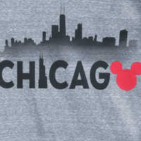 Image of Mickey Mouse Chicago Ringer T-Shirt Shirt for Men # 2