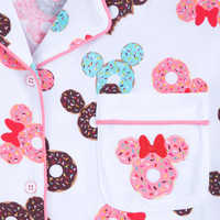 Image of Mickey and Minnie Mouse Donut Pajama Set for Women # 4