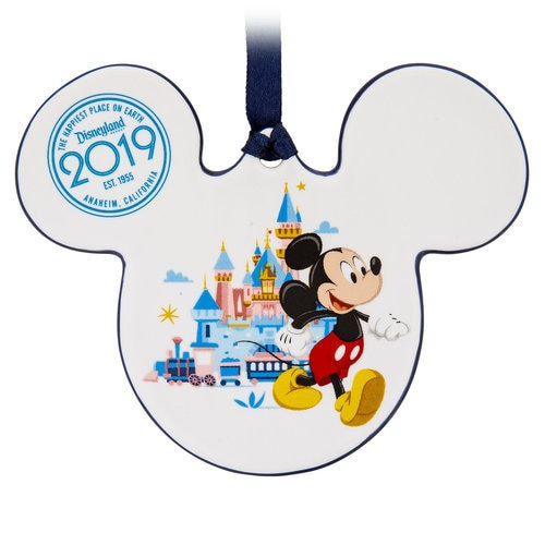 Mickey and Minnie Mouse Icon Ceramic Ornament - Disneyland 2019