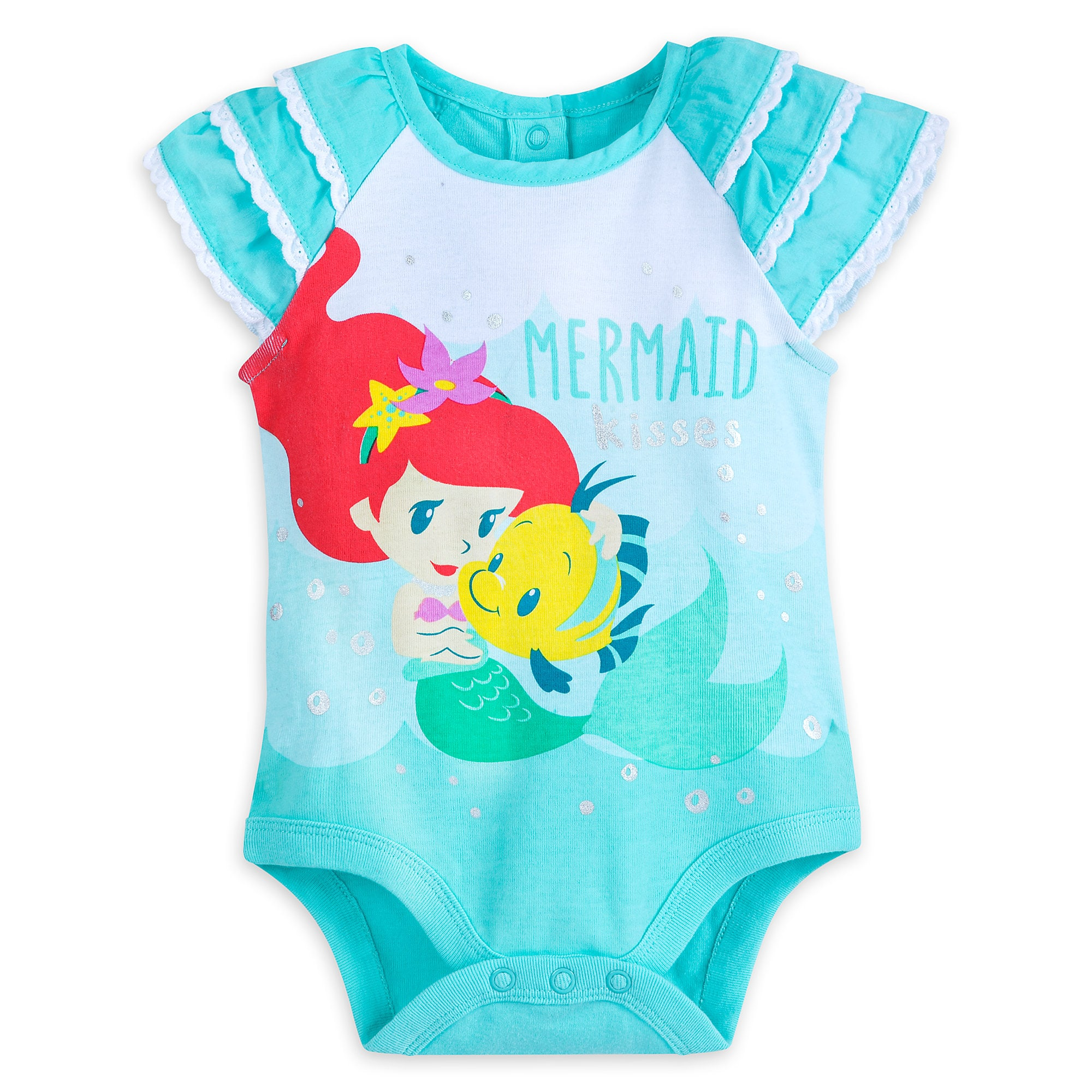 Ariel and Flounder Disney Cuddly Bodysuit for Baby
