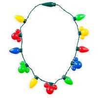 Mickey Mouse Icon Holiday Lights Necklace