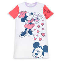 Image of Mickey and Minnie Mouse Perfume T-Shirt Dress for Women by Cakeworthy # 1