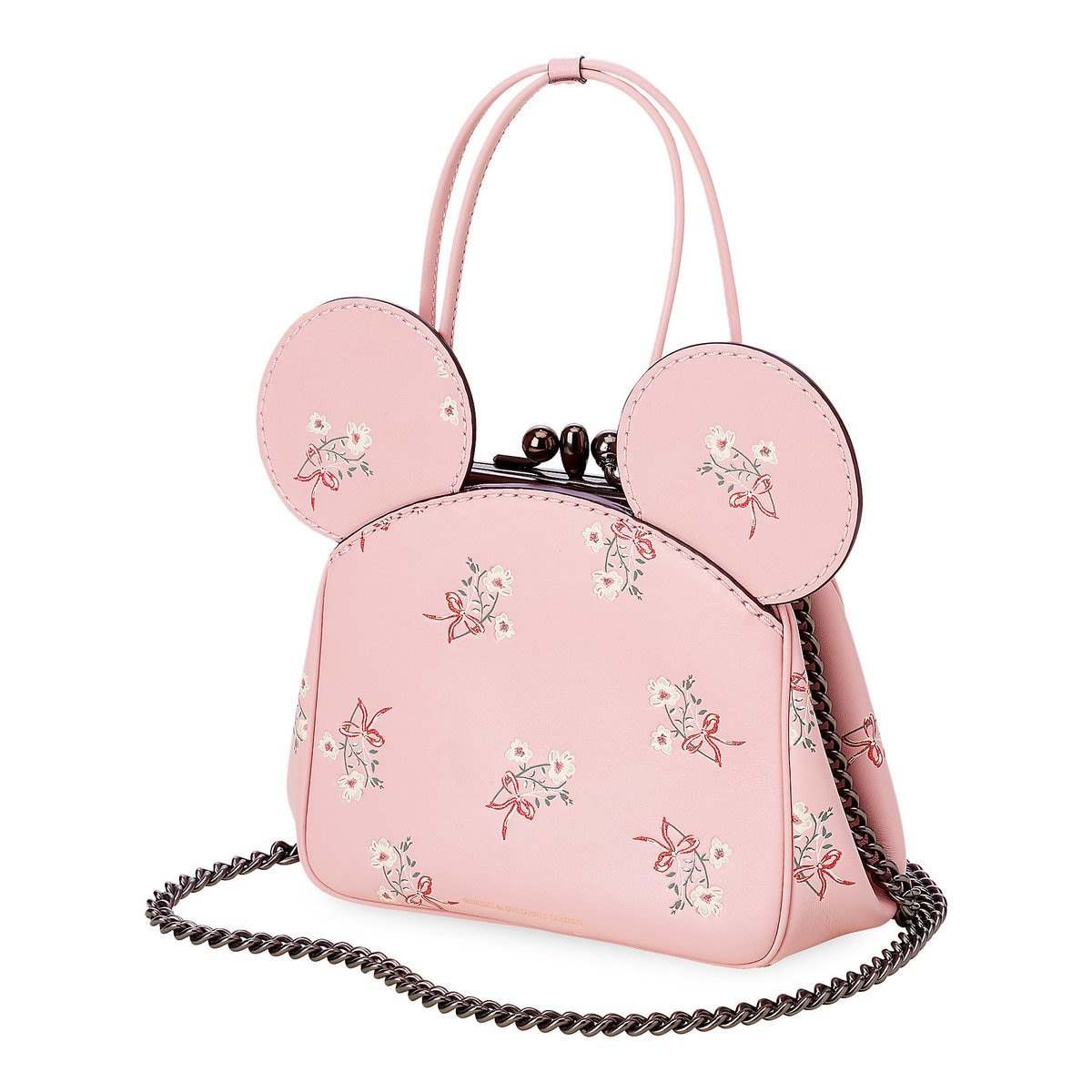 abadee5ac94 Product Image of Minnie Mouse Floral Kisslock Leather Bag by COACH - Pink    1