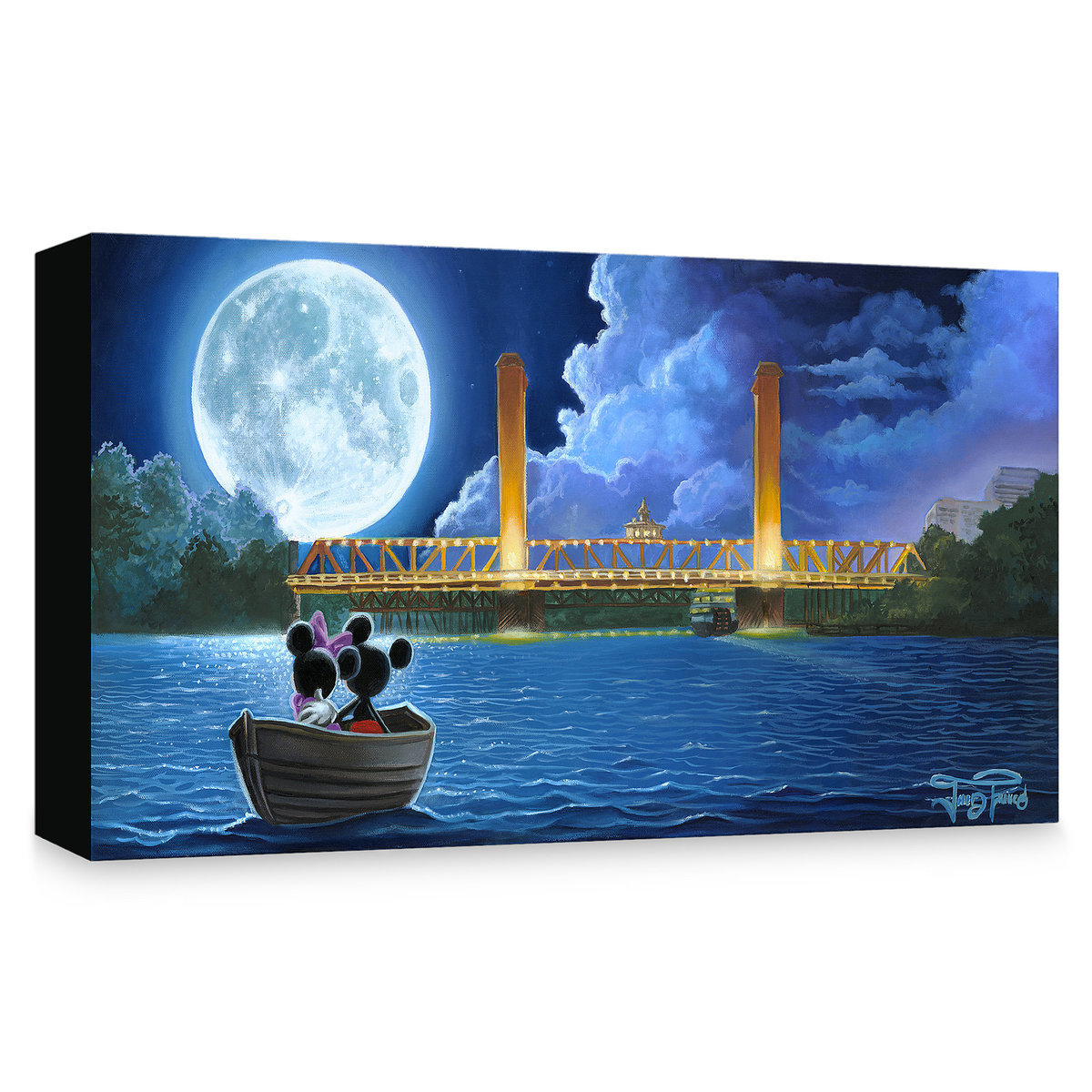 2195a6fd368 Product Image of Mickey and Minnie Mouse   Drifting in the Moonlight    Giclée