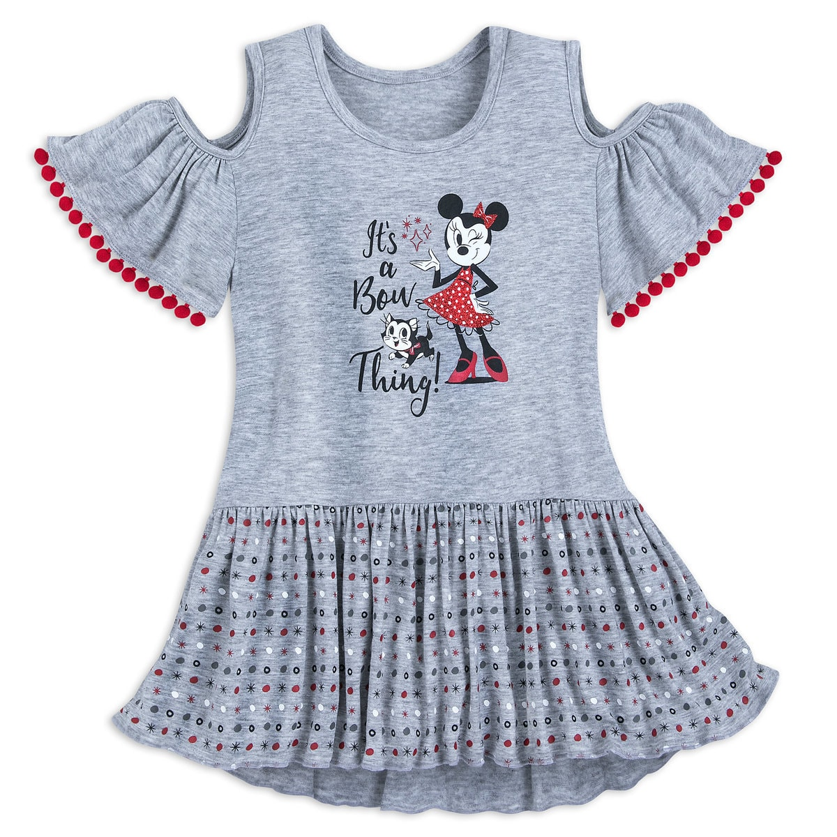 65ceeea8992e Product Image of Minnie Mouse and Figaro Cold Shoulder Dress for Girls # 1