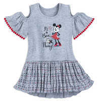 Image of Minnie Mouse and Figaro Cold Shoulder Dress for Girls # 1