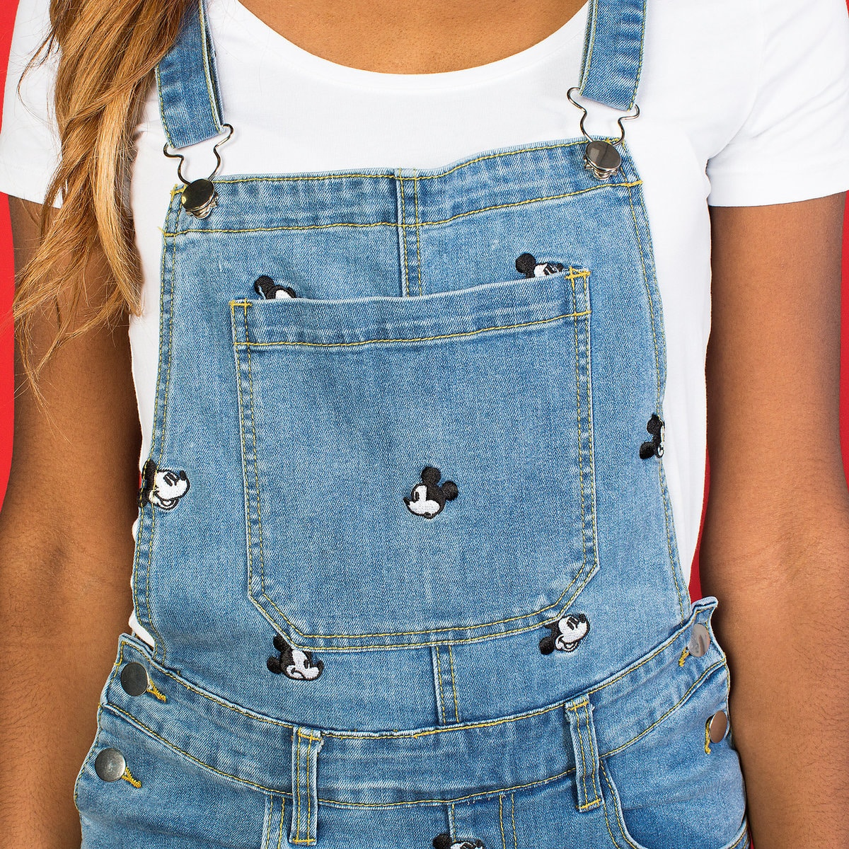 72943dbd3 Product Image of Mickey Mouse Denim Overalls Dress by Cakeworthy # 4