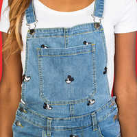 Image of Mickey Mouse Denim Overalls Dress by Cakeworthy # 4
