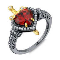 Image of Evil Queen Dagger Heart Ring by RockLove - Snow White and the Seven Dwarfs # 1