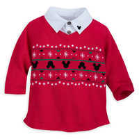 Image of Santa Mickey Mouse Sweater and Pants Set for Baby # 3