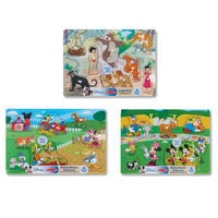 Mickey Mouse Clubhouse and Jungle Book Wooden Peg Puzzle Bundle by Melissa & Doug