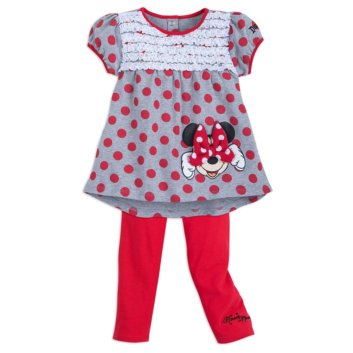 88ff6a7a89495 Product Image of Minnie Mouse Red Dot Top and Leggings Set for Girls -  Disneyland #