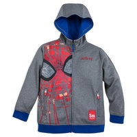 Image of Spider-Man Zip Hoodie for Boys - Personalizable # 1