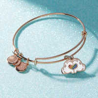 Image of Rainbow Disney Collection Mickey Mouse Heart Bangle by Alex and Ani # 4