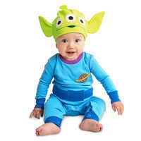 Image of Toy Story Alien Stretchie Sleeper and Hat for Baby # 2