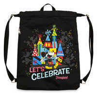 Image of Mickey Mouse ''Celebration of the Mouse'' Cinch Sack - Disneyland # 1