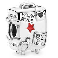 Image of Mickey and Minnie Mouse ''Vacay Mode'' Suitcase Charm by Pandora Jewelry # 1