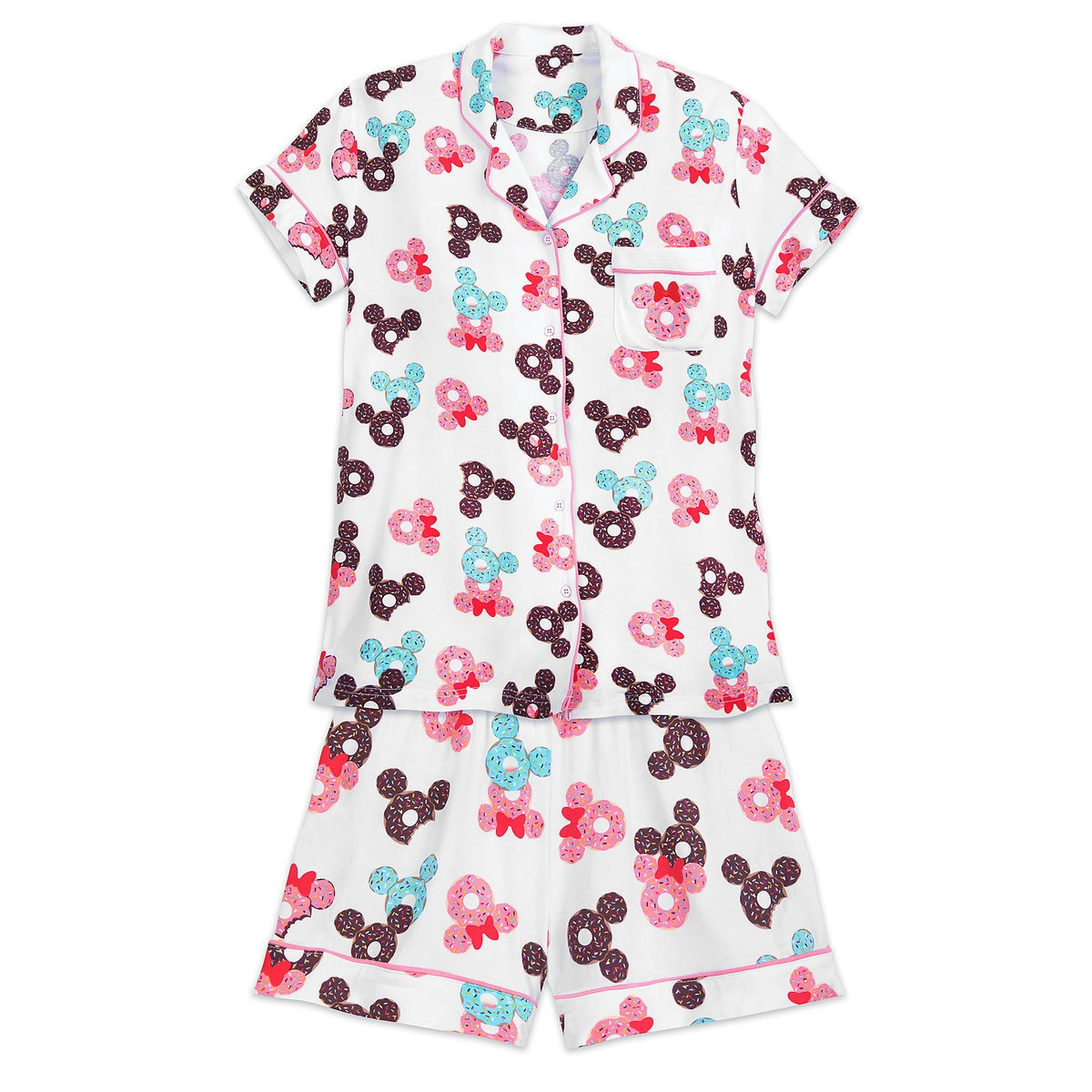 f38d4648fe Product Image of Mickey and Minnie Mouse Donut Pajama Set for Women # 1