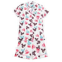Image of Mickey and Minnie Mouse Donut Pajama Set for Women # 1