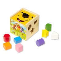 Image of Winnie the Pooh and Pals Wooden Shape Sorting Cube by Melissa & Doug # 1