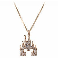 Mickey Mouse Rose Gold Castle Necklace - Rebecca Hook