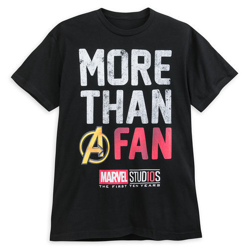 Marvel studios 10th anniversary t shirt for adults for Design t shirts online australia