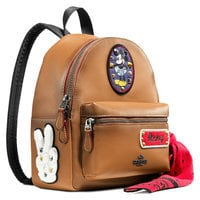 Mickey Mouse Patch Mini Charlie Leather Backpack by COACH