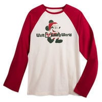 Santa Mickey Mouse Happy Holidays Baseball T-Shirt - Walt Disney World - Men