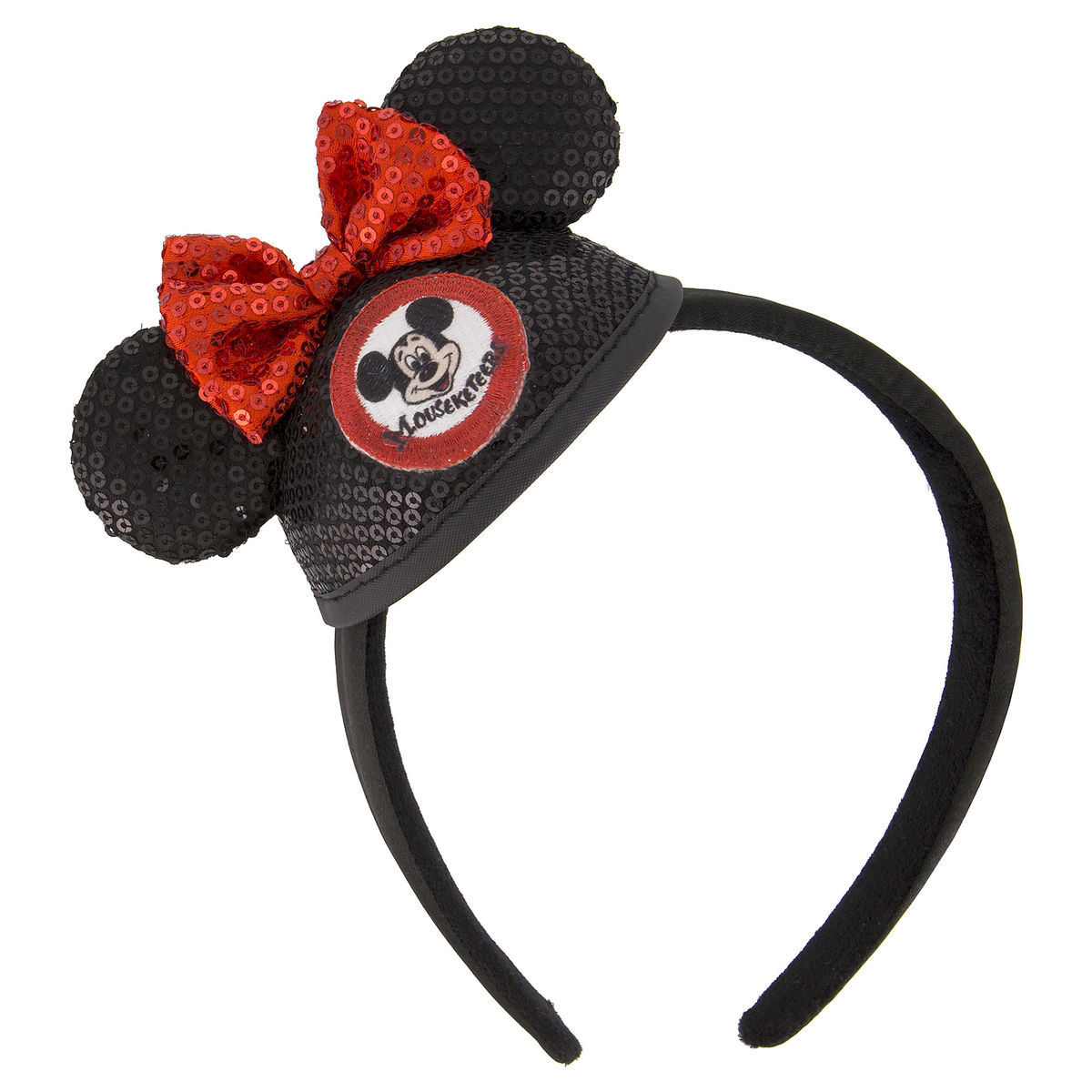 Product Image of Minnie Mouse Sequined Mini Ear Hat Headband - The Mickey  Mouse Club   0ce192b8153