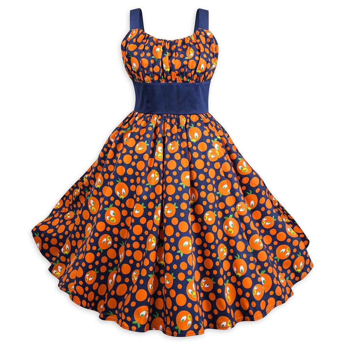 Product Image of Orange Bird Dress for Women # 1