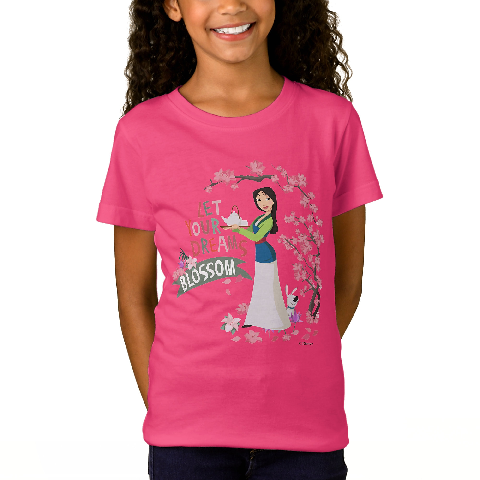 Mulan ''Let Your Dreams Blossom'' T-Shirt for Girls - Customizable
