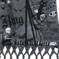 Image of Nightmare Before Christmas Fringed Tank Top for Girls # 2