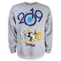 Image of Mickey Mouse and Friends Fleece Sweatshirt for Adults - Disneyland 2019 # 1